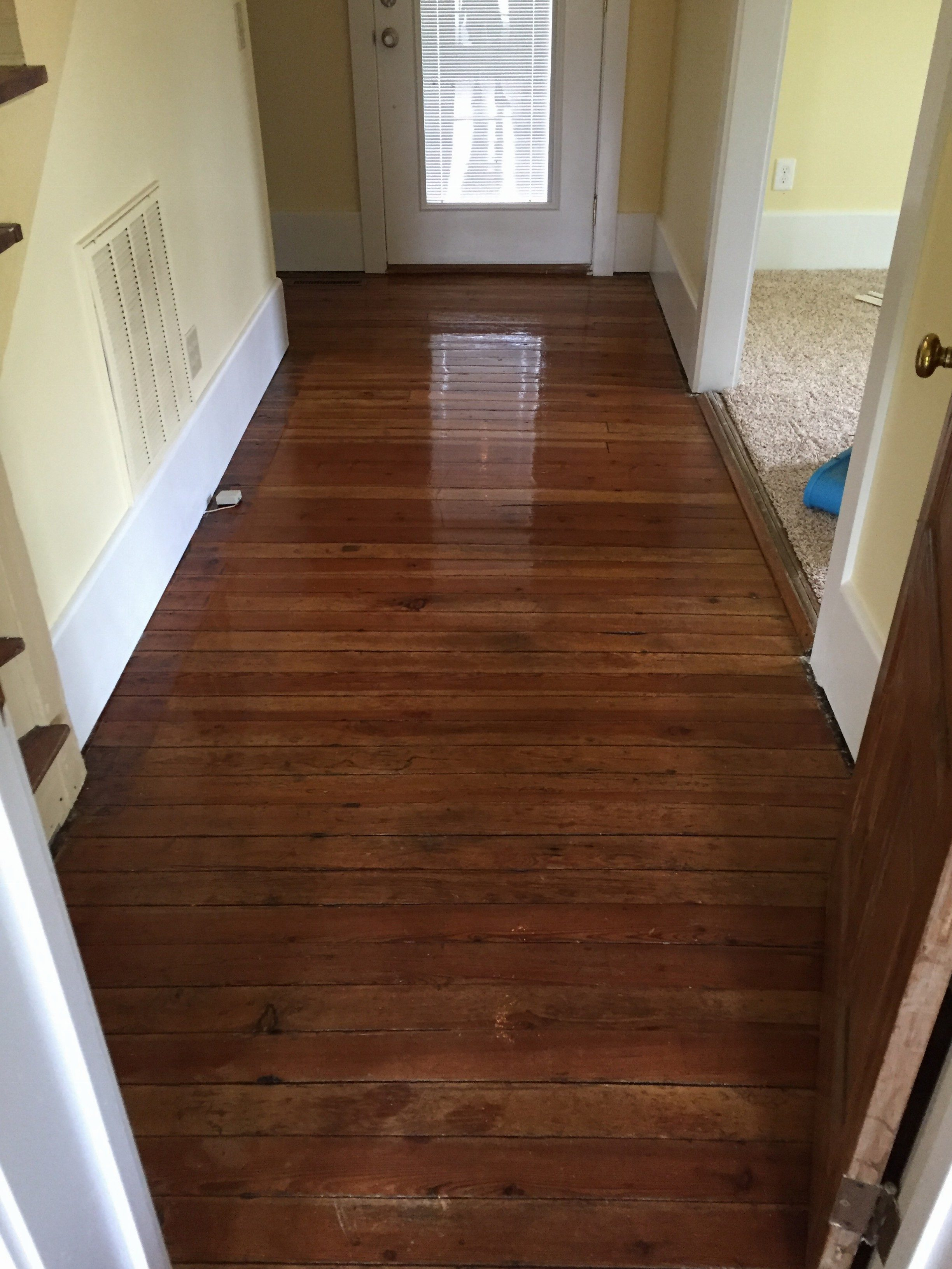 Asheville hardwood floor cleaning before and after for Hardwood floors cleaning
