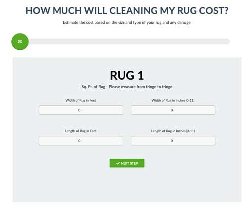 rug cleaning calculator
